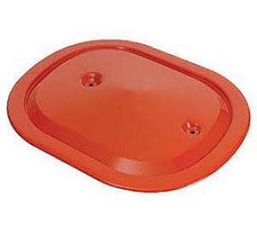 Dante's Mopar Parts - Mopar 340/440+6 Oval Air Cleaner Orange Lid