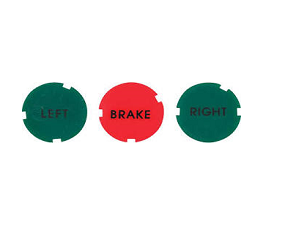 Dante's Mopar Parts - Mopar E-body Rallye Dash Gauge Indicator Lens Set - Image 1