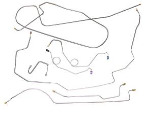 Dante's Mopar Parts - Mopar Brake Lines -1970 B-body GTX Road Runner Charger Coronet Full Brake Line Sets - Image 1