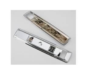 "Dante's Mopar Parts - Mopar Front Chrome 16.25"" Arm Rest Bases 1966-1967 B-body, 1968-1970 Charger,1966-1970 C-body - Image 1"