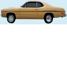 Dante's Mopar Parts - Mopar Stripe Kit 1970-1975 Plymouth Gold Duster - Image 1