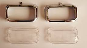 Dante's Mopar Parts - Mopar Lenses Parking Lens & Bezels 1972-1974 Barracuda Cuda - Image 1