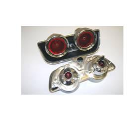 Dante's Mopar Parts - Mopar Tail Light Bezels & Assemblies 1968 Charger Complete Tail Assembly