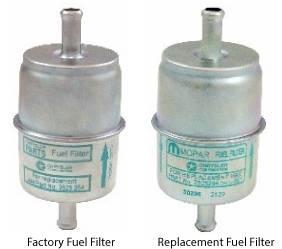 """Dante's Mopar Parts - Mopar Gas Fuel Filters 5/16"""" Factory or Mopar Replacement Non-Date Coded Fuel Filter"""