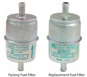 "Dante's Mopar Parts - Mopar Gas Fuel Filters 3/8"" Factory or Mopar Replacement Non-Date Coded Fuel Filter"
