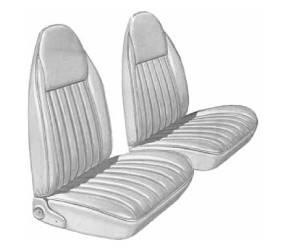 Dante's Mopar Parts - Mopar Seat Covers 1975-76 Dodge Dart Swinger & Plymouth Scamp Front Buckets