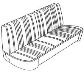Legendary Auto Interiors - Mopar Seat Covers 1967 Dart 270 A-body Front Split Bench