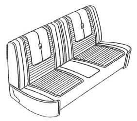Legendary Auto Interiors - Mopar Seat Covers 1967 Dart GT A-body Front Split Bench