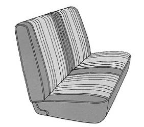 Legendary Auto Interiors - Mopar Seat Covers 1969 Dart Custom A-body Front Split Bench