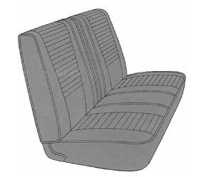 Legendary Auto Interiors - Mopar Seat Covers 1969 Dart GT & Dart GTS A-body Front Split Bench