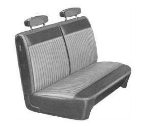 Legendary Auto Interiors - Mopar Seat Covers 1970 Dart Swinger & Swinger 340 A-body Front Split Bench Seat Cover - Image 1