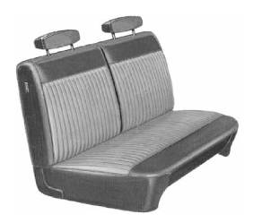 Legendary Auto Interiors - Mopar Seat Covers 1970 Dart Swinger, Swinger 340 & Plymouth Duster Front Bench Seat Cover - Image 1