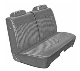 Legendary Auto Interiors - Mopar Seat Covers 1971 Dart 4-dr & Valiant 4-dr A-body Front Split Bench
