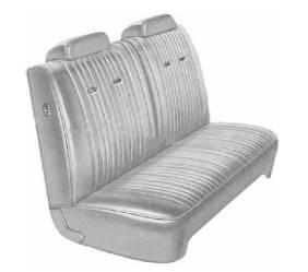 Dante's Mopar Parts - Mopar Seat Covers 1971 Dart Swinger, Dart Custom & Scamp A-body Front Split Bench - Image 1
