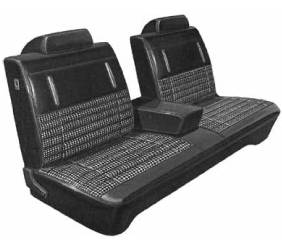 Dante's Mopar Parts - Mopar Seat Covers 1972 Dart Swinger & Scamp A-body Front Split Bench