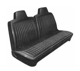Dante's Mopar Parts - Mopar Seat Covers 1972 Dart Swinger, Swinger Special & Scamp A-body Front Split Bench with Integral Headrest