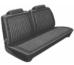 Dante's Mopar Parts - Mopar Seat Covers 1973 Dart Swinger, Swinger Special & Scamp A-body Front Split Bench