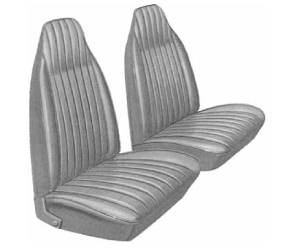Legendary Auto Interiors - Mopar Seat Covers 1974 Duster, Duster 360 & Dart Sport 360 A-body Front Buckets