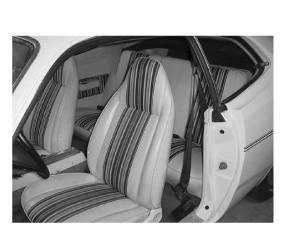 Legendary Auto Interiors - Mopar Seat Covers 1974-75 Dart Sport & Dart Sport 360 Hang 10 Style A-body Rear Fold Down Bench