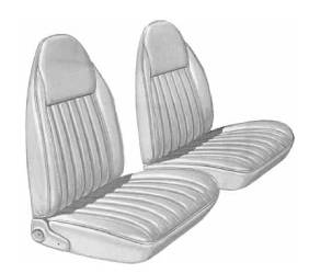 Legendary Auto Interiors - Mopar Seat Covers 1975-76 Duster, Duster 360 & Dart Sport 360 A-body Front Buckets