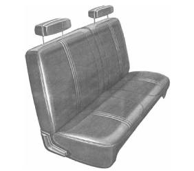 Legendary Auto Interiors - Mopar Seat Covers 1970 Duster & Duster 340 A-body Front Split Bench - Image 1
