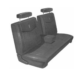 Legendary Auto Interiors - Mopar Seat Covers 1970 Duster & Duster 340 A-body Front Split Bench with Center Armrest - Image 1