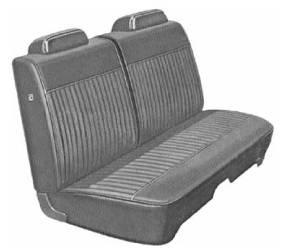 Legendary Auto Interiors - Mopar Seat Covers 1971 Duster, Demon & Demon 340 3/5 Rib  Front Split Bench - Image 1