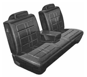 Legendary Auto Interiors - Mopar Seat Covers 1971 Duster & Duster 340 A-body Front Split Bench with Center Armrest