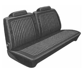 Legendary Auto Interiors - Mopar Seat Covers 1973 Plymouth Duster & Dodge Dart Sport Front Split Bench