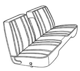 Legendary Auto Interiors - Mopar Seat Covers 1968 Barracuda A-body Front Split Bench with Center Armrest - Image 1