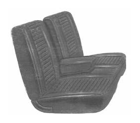 Legendary Auto Interiors - Mopar Seat Covers 1969 Barracuda A-body Front Split Bench with Center Armrest