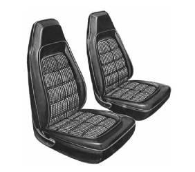 Dante's Mopar Parts - Mopar Seat Covers 1970 Barracuda Gran Coupe Cloth Style E-body Front Buckets
