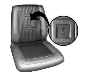 Dante's Mopar Parts - Mopar Seat Covers 1965 Plymouth Satellite Front Buckets