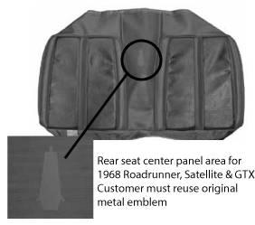 Legendary Auto Interiors - Mopar Seat Cover 1968 Sport Satellite & GTX OEM Style Rear Bench