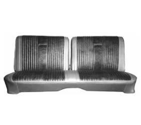 Dante's Mopar Parts - Mopar Seat Cover 1967 Belvedere II 2 Door Hardtop Silver Special B-body Front Split Bench - Image 1