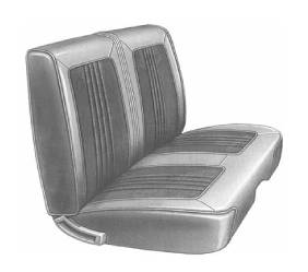 Dante's Mopar Parts - Mopar Seat Cover 1968 Belvedere & Roadrunner Standard Style B-body Front Split Bench