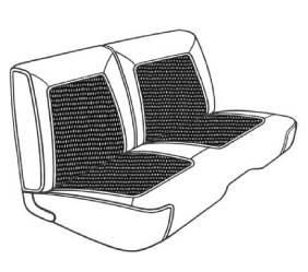 Dante's Mopar Parts - Mopar Seat Cover 1968 Belvedere II & Roadrunner Deluxe Style Front Split Bench