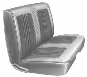Dante's Mopar Parts - Mopar Seat Covers 1969 Belvedere & Roadrunner Standard Style B-body Front Split Bench