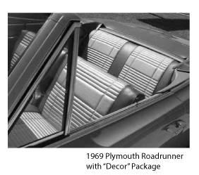 Dante's Mopar Parts - Mopar Seat Covers 1969 Satellite & Roadrunner Decor Package B-body Rear Seat Cover