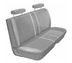 Dante's Mopar Parts - Mopar Seat Covers 1970 Belvedere & Roadrunner Standard Style Front Split Bench - Image 1