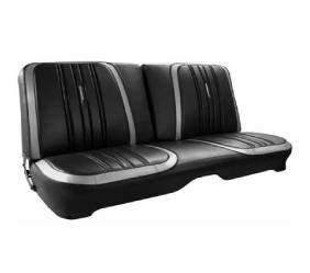 Dante's Mopar Parts - Mopar Seat Covers 1970 Satellite, Roadrunner & Superbird Deluxe Style B-body Front Split Bench