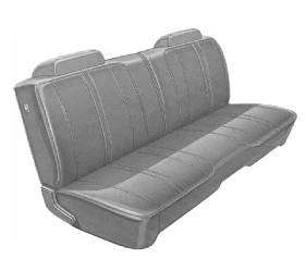 Dante's Mopar Parts - Mopar Seat Covers 1971 Satellite & Roadrunner Standard Style B-body Front Split Bench
