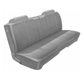 Dante's Mopar Parts - Mopar Seat Covers 1972 Satellite & Roadrunner Standard Style B-body Front Split Bench - Image 1