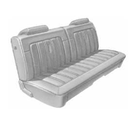 Dante's Mopar Parts - Mopar Seat Cover 1973 Satellite Sebring & Roadrunner Deluxe Style Front Split Bench