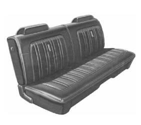 Dante's Mopar Parts - Mopar Seat Cover 1974 Satellite Sebring & Roadrunner Deluxe Style Front Split Bench