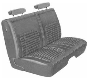 Dante's Mopar Parts - Mopar Seat Cover 1970 Charger B body Front Split Bench