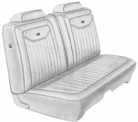 Dante's Mopar Parts - Mopar Seat Covers 1971 Charger & Superbee Deluxe Style B body Front Split Bench
