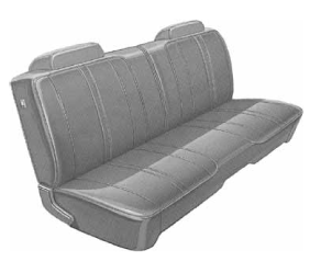 Dante's Mopar Parts - Mopar Seat Covers 1972 Charger Standard Style B body Front Split Bench