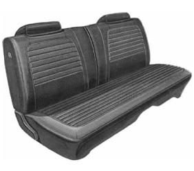 Dante's Mopar Parts - Mopar Seat Covers 1972 Charger SE & Charger Deluxe Style Front Split Bench Seat Cover