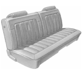 Dante's Mopar Parts - Mopar Seat Covers 1973 Dodge Charger Front Split Bench - Image 1